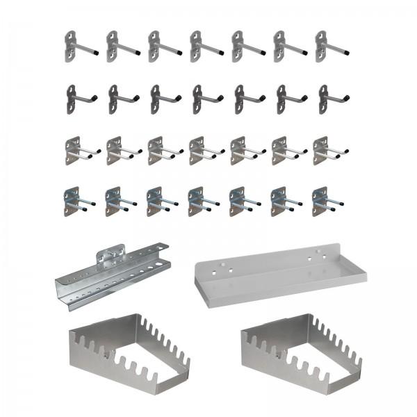 ADB Hakensatz/Werkzeughalter, 32-tlg, RAL 9006