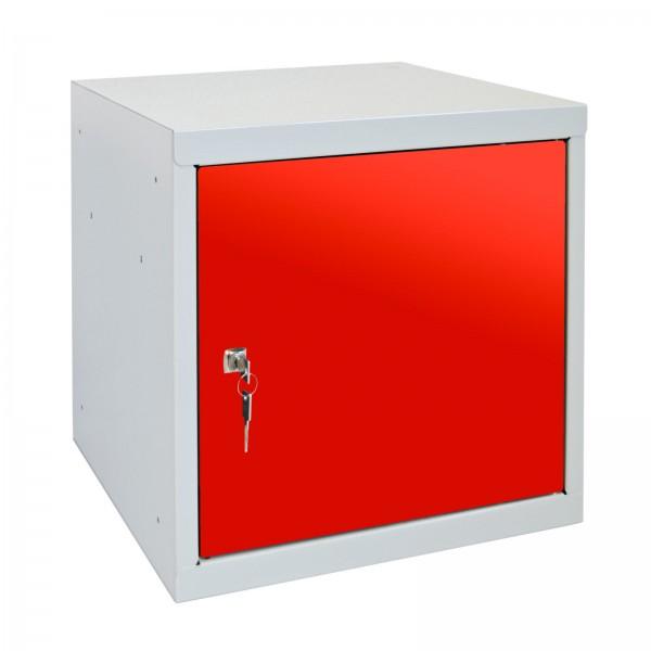 ADB Wertfach-Würfel mit Zylinderschloss, rot