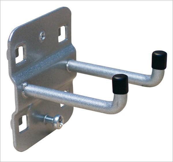 Werkzeughalter, Länge 50 mm, doppelt, senkrechtes Hakenende