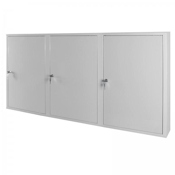ADB Werkzeugwandschrank mit 3 Türen, 4 Fachböden, Grau