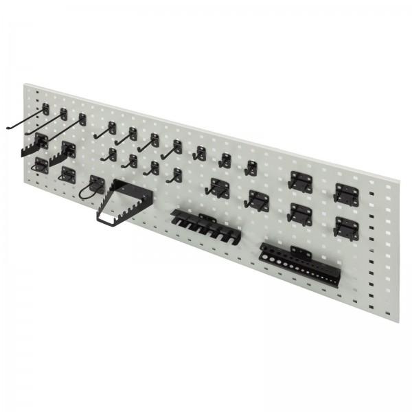 Hakensatz/Werkzeughalter, 28 tlg., RAL 9005