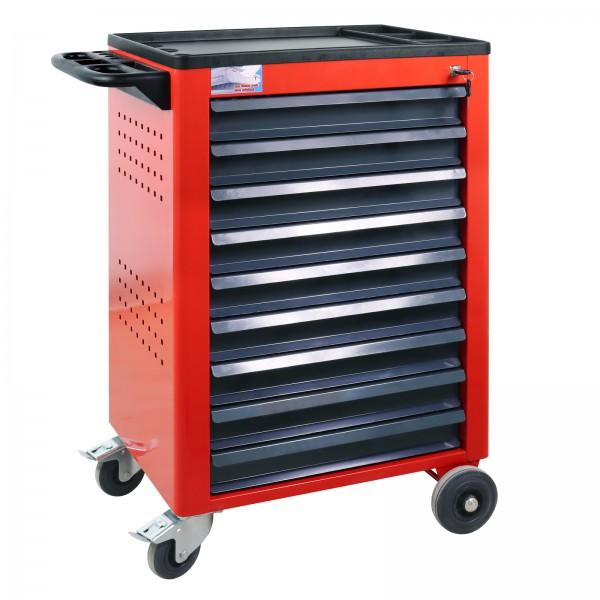 ADB Werkstattwagen Basic mit 9 Schubladen, rot
