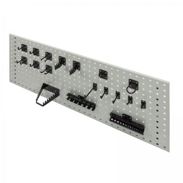 Hakensatz/Werkzeughalter, 18 tlg., RAL 9005