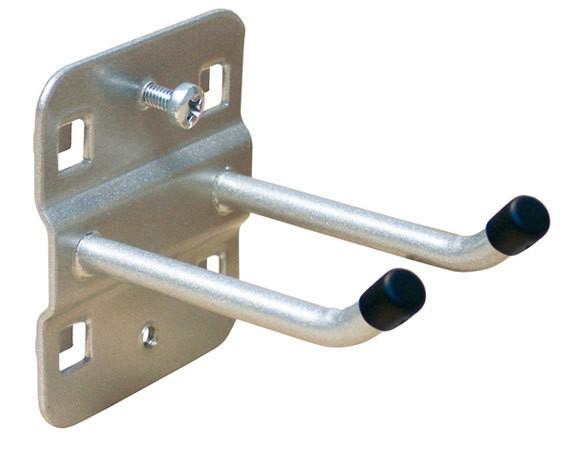 Werkzeughalter mit schrägem Hakenende, 50 mm Länge, doppelt