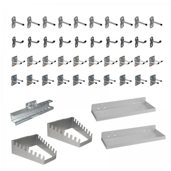 ADB Hakensatz/Werkzeughalter, 45-tlg., RAL 9006