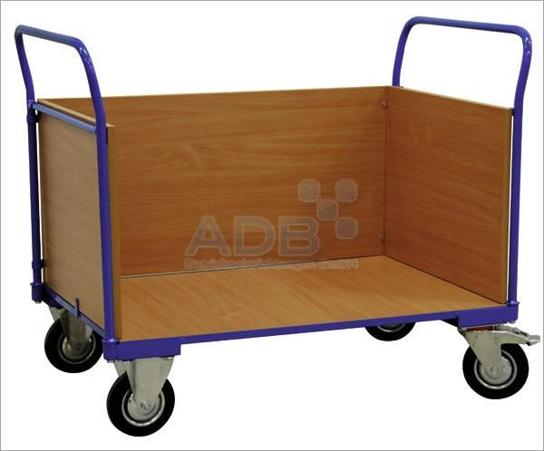 ADB Transportwagen mit 3 Holzwänden, Höhe 500 mm