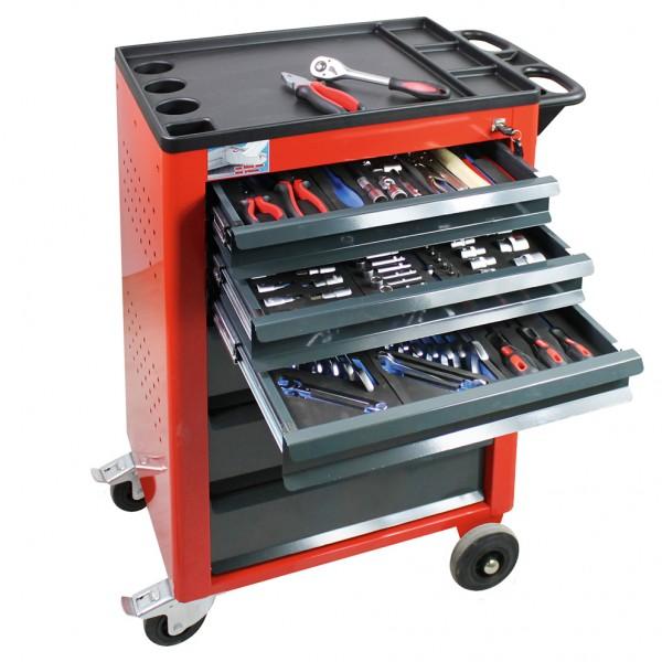 ADB Werkstattwagen Basic (rot) mit 115 teiligem Werkzeugsatz