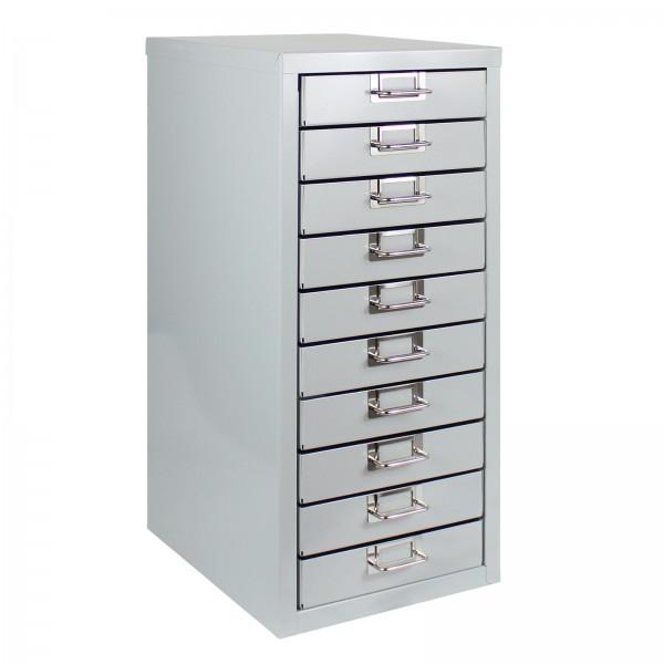ADB Schubladenbox mit 10 Schubladen, Lichtgrau
