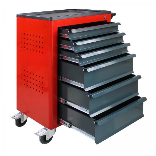 ADB Werkstattwagen Basic mit 6 Schubladen, rot