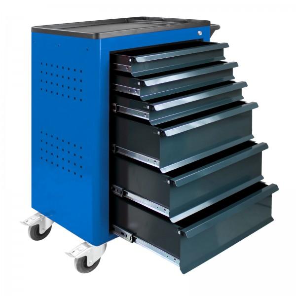 ADB Werkstattwagen Basic, blau, 6 Schubladen