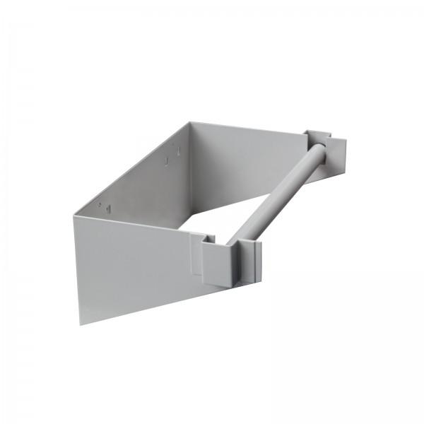 Papierrollenhalter, L 338,40 x T 192 x H 120 mm, RAL 9006