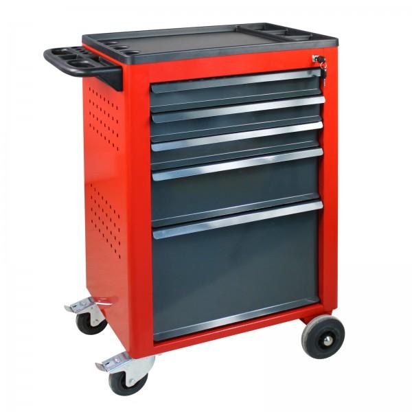 ADB Werkstattwagen Basic mit 5 Schubladen, rot