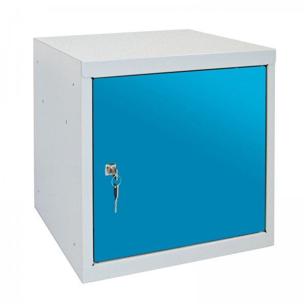 ADB Wertfach-Würfel mit Zylinderschloss, Lichtblau