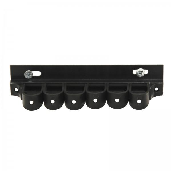 ADB Werkzeugklemmhalter mit Kunststoff-Laschen, schwarz