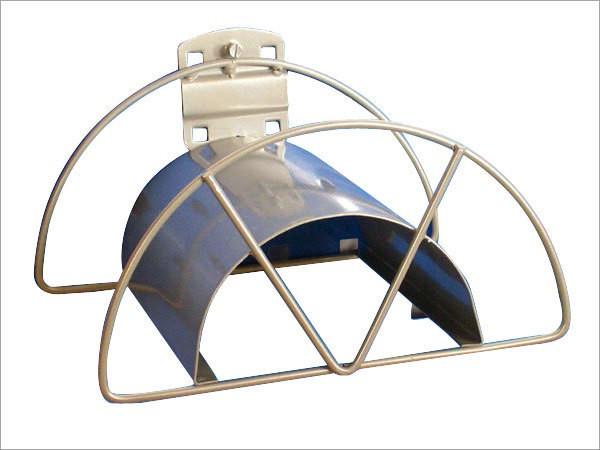 ADB Schlauch- und Kabelhalter, B 220 x H 180 mm, grau