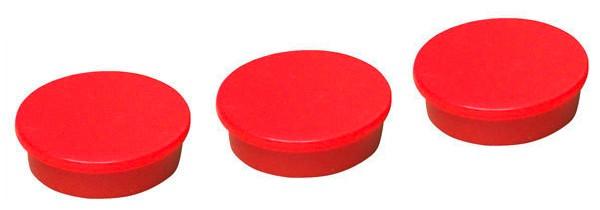 Magnete, Rot, Ø 25 mm, 10 Stück