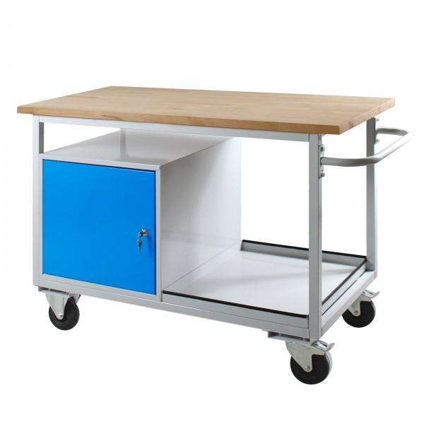 Tischwagen Eko mit 1 Tür, RAL 7035/5012