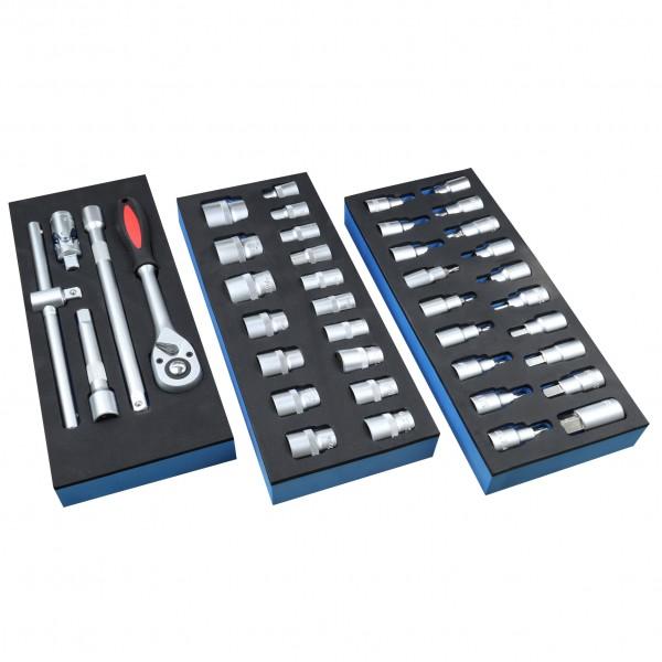 Steckschlüssel-Bedienungswerkzeuge inkl. Aufsätze