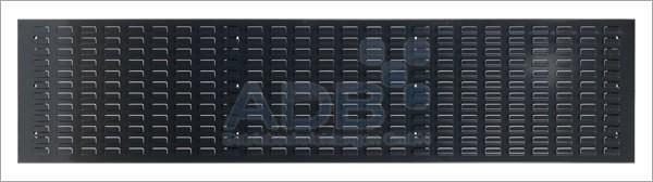 Schlitzplatte, waagerecht, L1975 x B 456 mm, RAL 7016