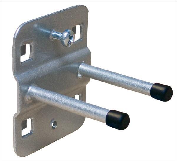 ADB Lochwand-Halter 100 mm, doppelt mit geradem Hakenende