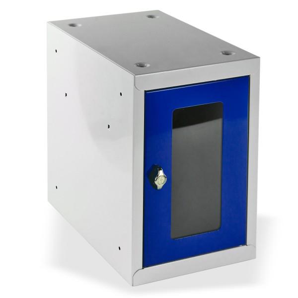 ADB Schließfach-Würfel mit Sichtscheibe, Enzianblau