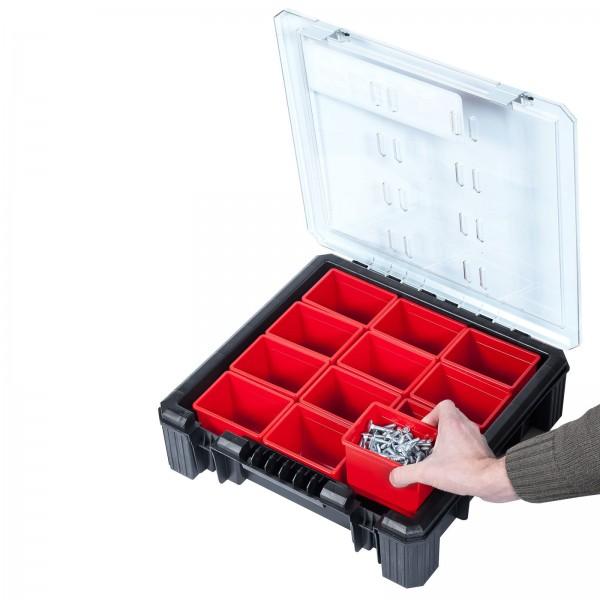 ADB Organizer/Kleinteilemagazin mit 12 herausnehmbaren Boxen