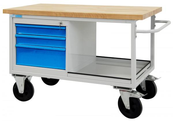 ADB Tischwagen / mobiler Werkzeugtisch 3 Schubladen und 1 Ablageboden