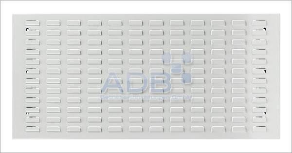 Schlitzplatte, waagerecht, L 987 x B 456 mm, RAL 7035