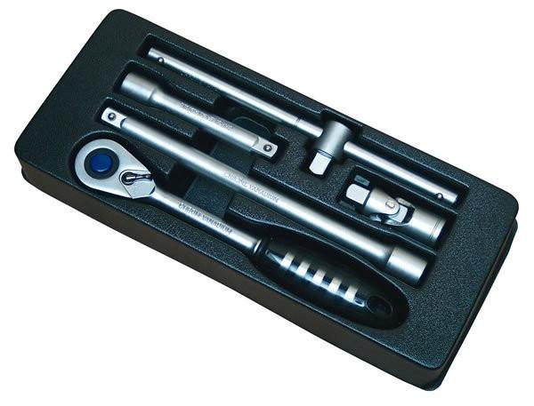 Steckschlüssel-Antrieb-Garnitur 1/2 Zoll 6-tlg für Werkstattwagen