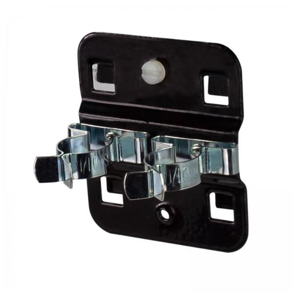 ADB Lochwand-Werkzeugklemme, doppelt, Ø 19 mm, RAL 9005